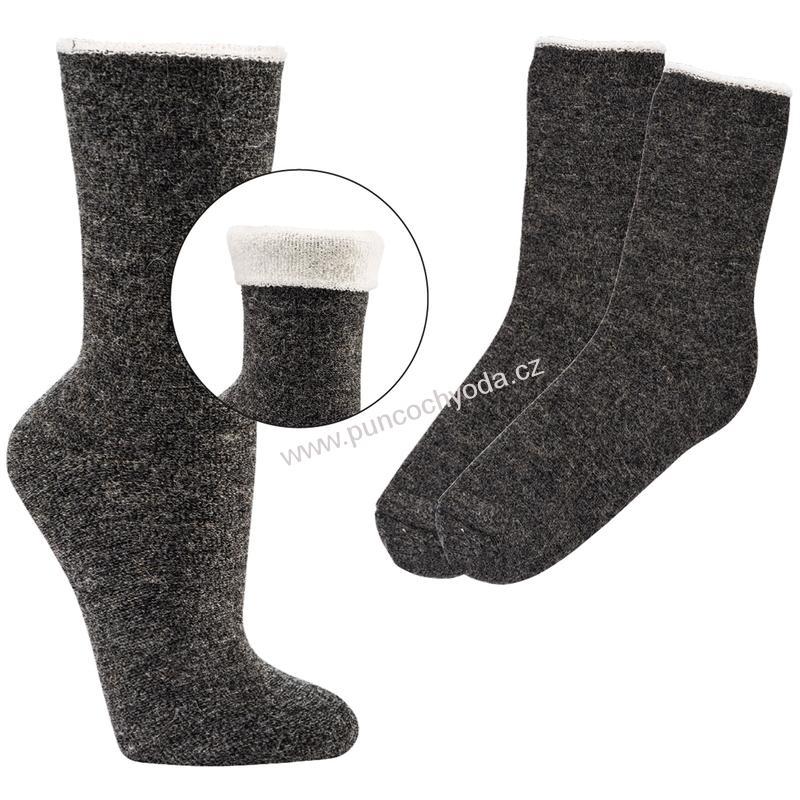 SOCKS 4 FUN 6593 dvojité vlněné ponožky (1 pár)  b5879e3d21