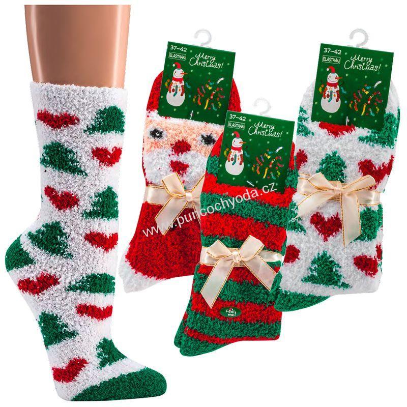 SOCKS 4 FUN 2181 domácí vánoční žinylkové ponožky  d7d4bfb5b1