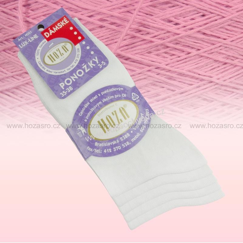 Hoza 100% BAVLNA dámské bavlněné ponožky  0853818512