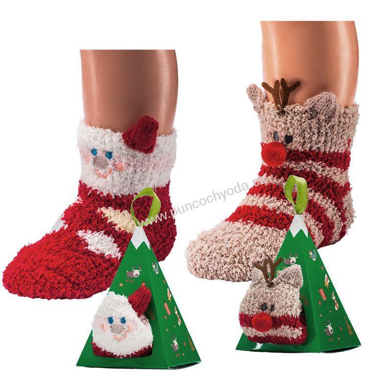 SOCKS 4 FUN 5234 kojenecké vánoční žinylkové ponožky ABS v dárkové krabičce 6e2070a837