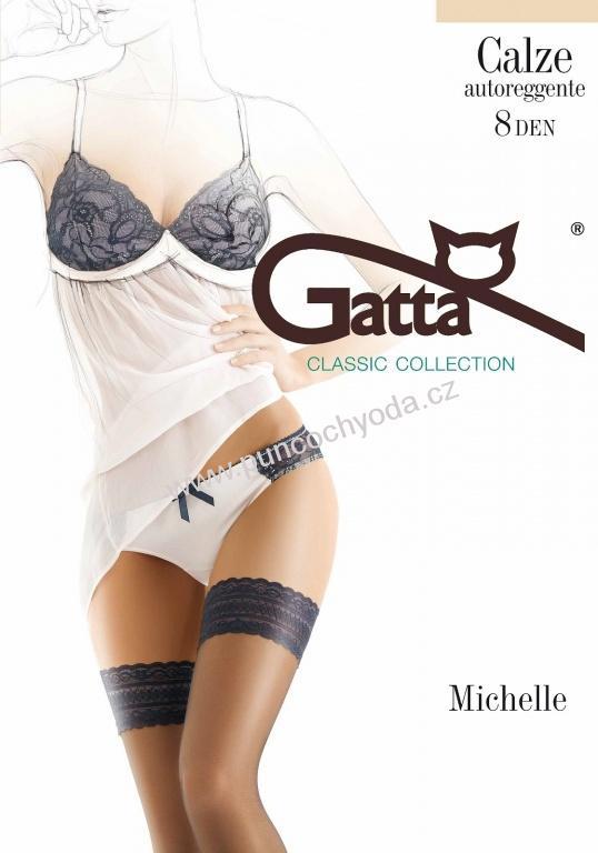 2673c50bcdd Gatta MICHELLE 04 samodržící punčochy 8 DEN