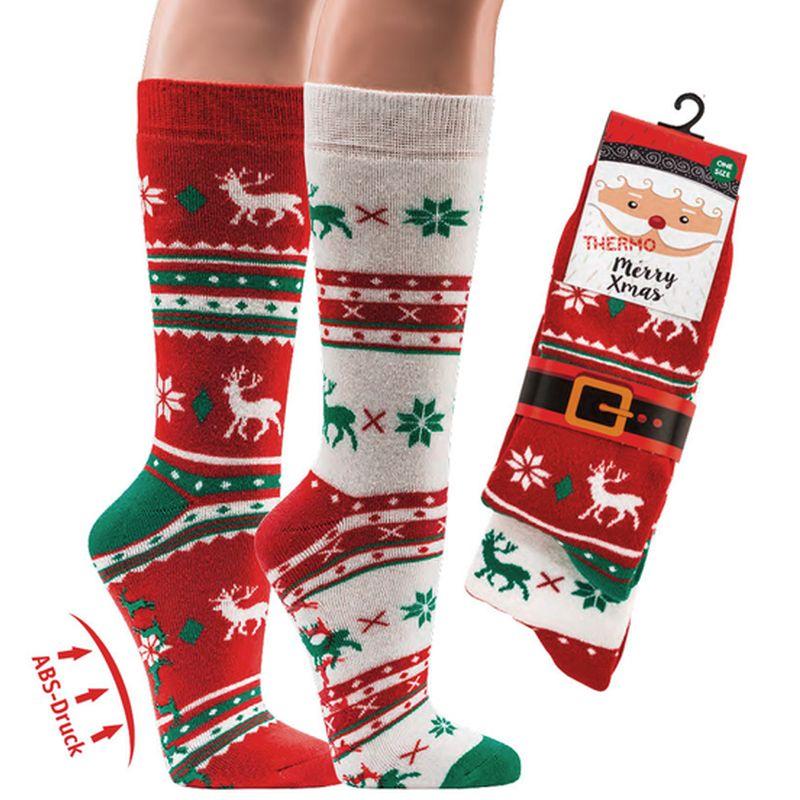 6808d31e640 SOCKS 4 FUN 2173 vánoční froté ponožky ABS (1 pár) empty