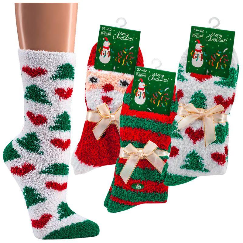 98927b9ee52 SOCKS 4 FUN 2181 domácí vánoční žinylkové ponožky empty
