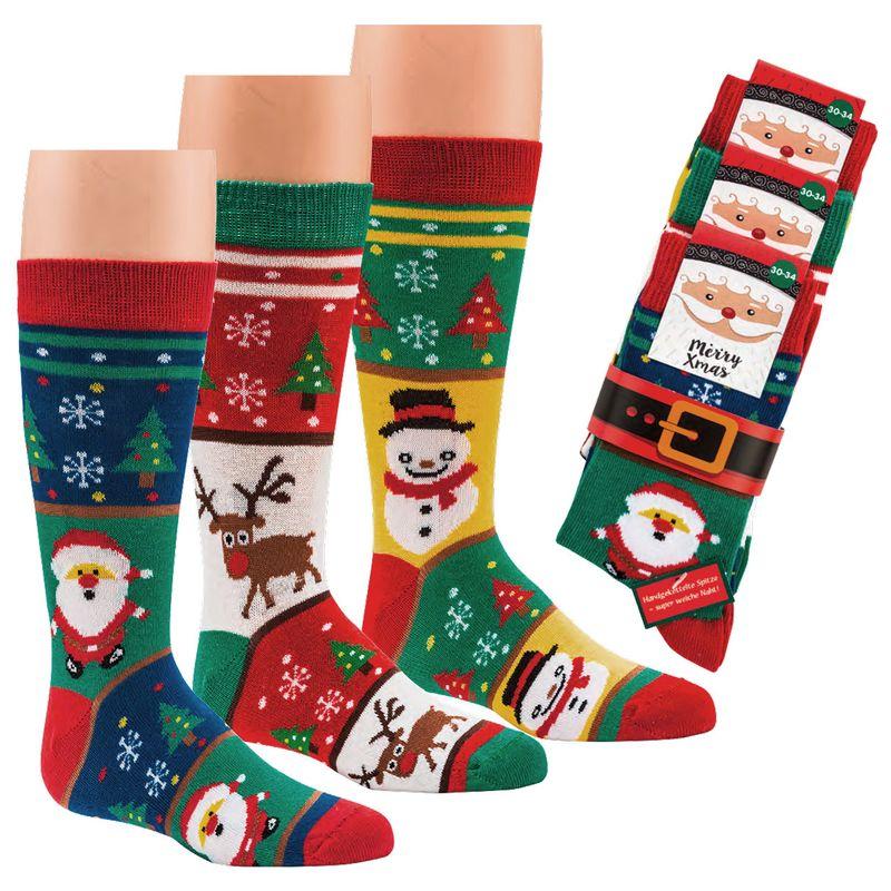 SOCKS 4 FUN 3204 dětské vánoční ponožky (1 pár) empty 97945df50f