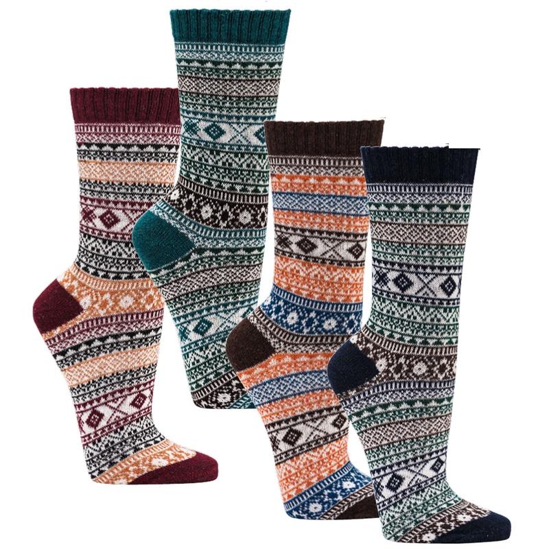 SOCKS 4 FUN 6517 dámské pánské vzorované bavlněné ponožky (1 pár) empty eab011b32d