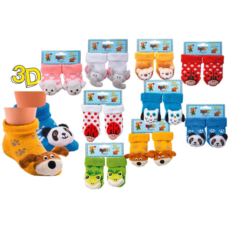5226 SOCKS 4 FUN kojenecké chrastící ponožky 3D (1 pár) empty c5c5042aaa