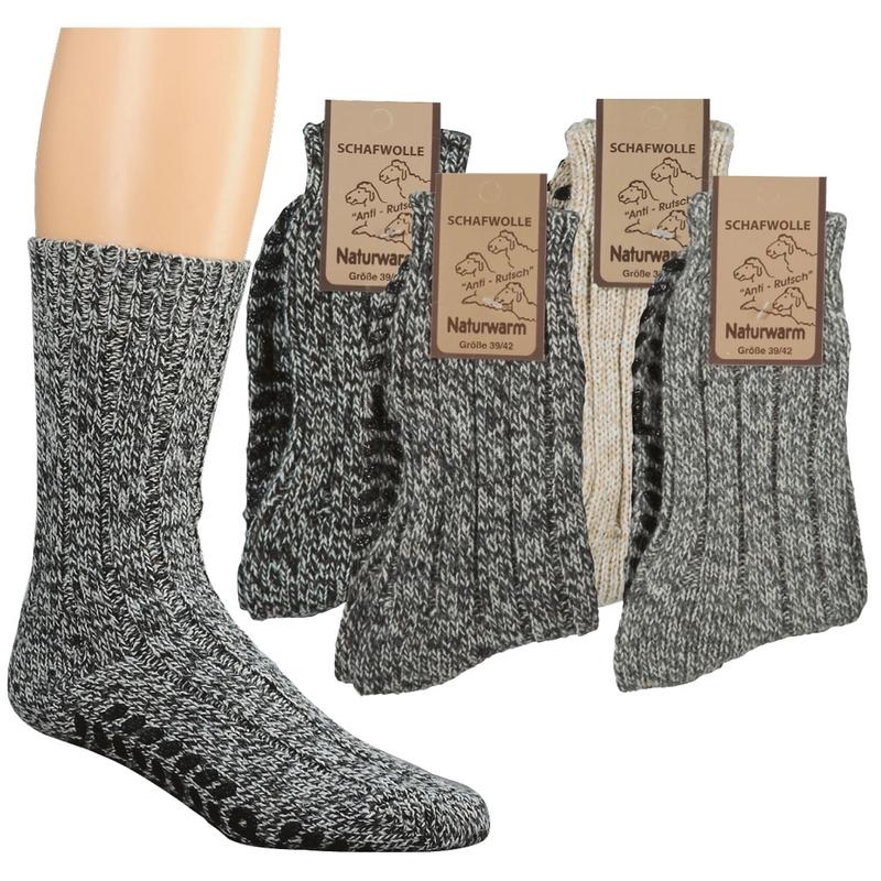 SOCKS 4 FUN 6586 domácí vlněné ponožky s ABS (1 pár) empty 639fb7e6a9