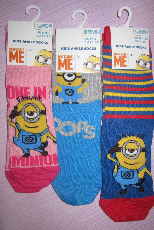SOCKS 4 FUN 3201 dětské ponožky MIMONI - já padouch (1 pár v balení) empty c37efc1eb0